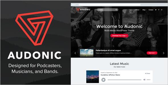SoundCast WordPress Theme