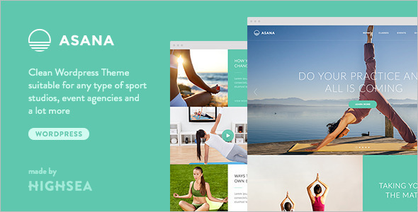 Sport Yoga Website Template