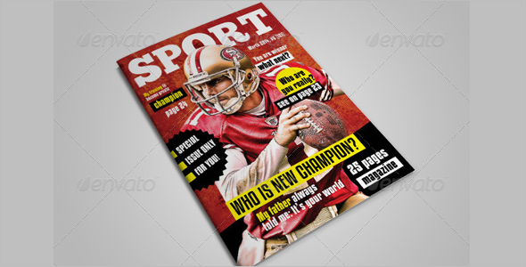 Sports Magzine Page Template