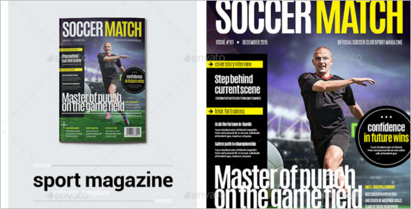 Sports Magzine Typography Template