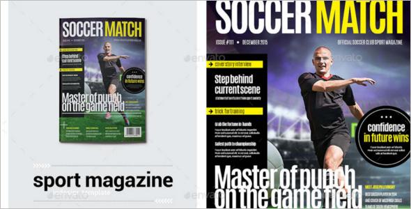 Sports Magzine Typography Template