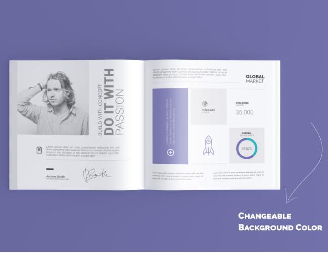 Square Book Mock-Up Brochure