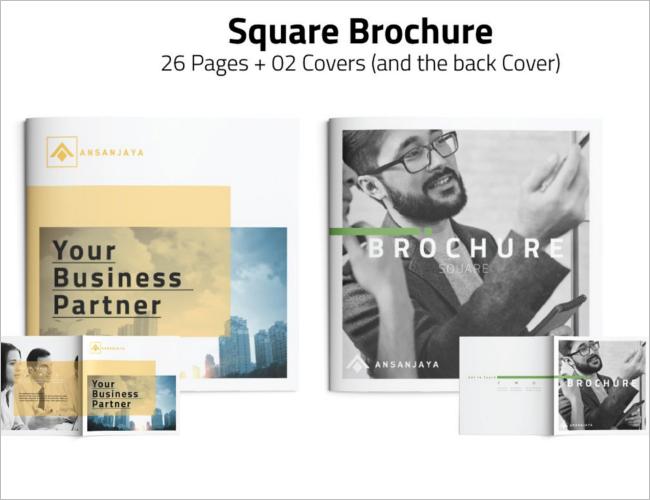 Square Brochure Cover Design