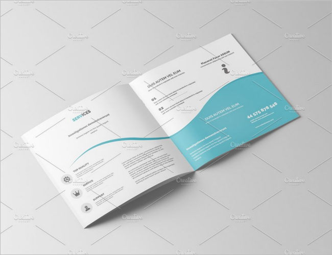 Square Brochure PSD Template