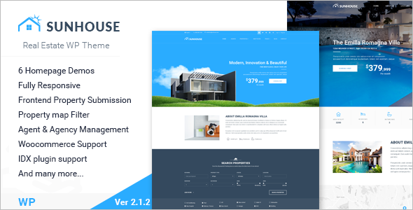Sun House Realtor Website Template