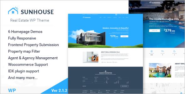 Sun House Realtor Website Template