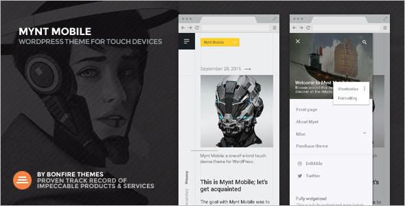 Super fast Mobile WordPress Template