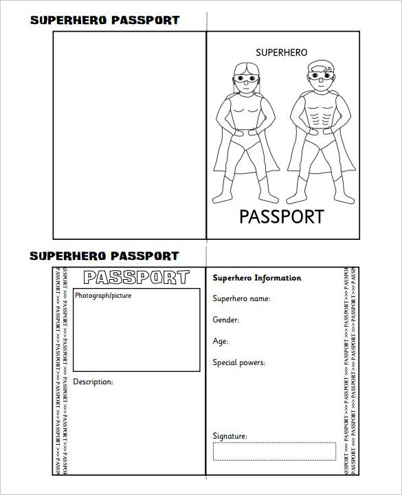 Superhero-Passport-Writing-Frame-Printable-Template-Download
