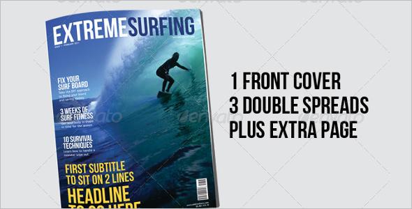 Surfing Sports Magazine Template