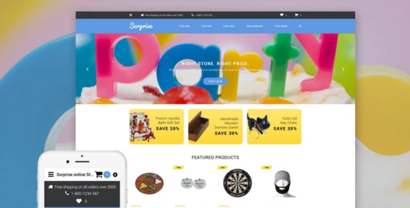 Surprise Giftshop OpenCart Template