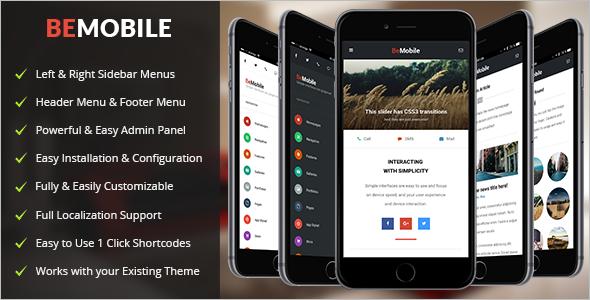 Tablet Mobile WordPress Template