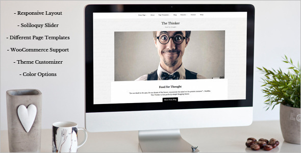 Thinker Blogger WordPress Template