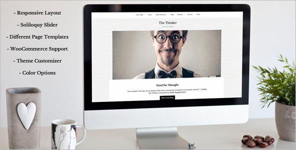 Thinker Blogger WordPress Template