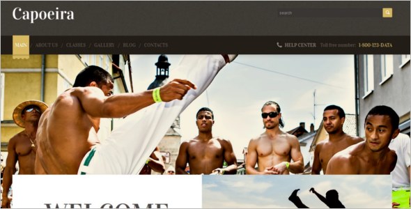Travel Martial Art WordPress Template