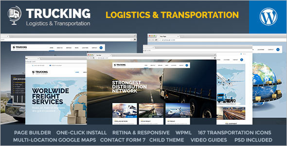 Trucking Business WordPress Template