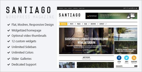 Typography Gallery WordPress Template
