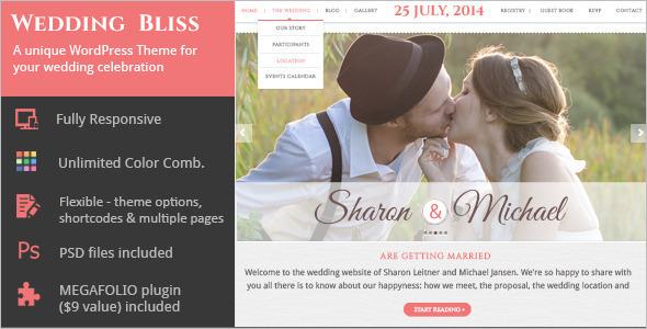 Unique Wedding WordPressTemplate