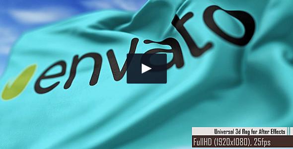 Universal 3d Flag Maker Animation Video