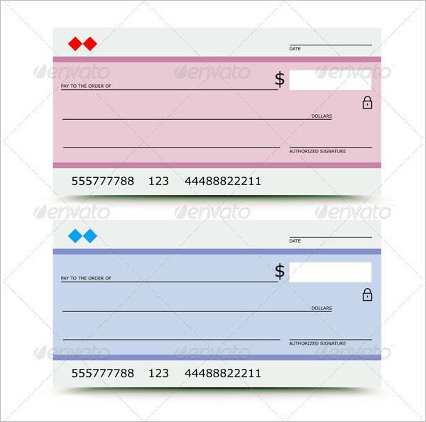 Vector illustration of bank check