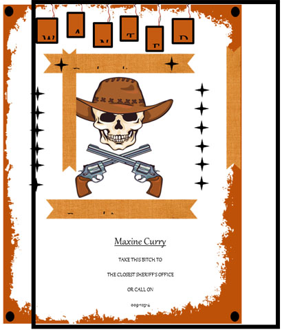 Wanted Poster Design Created