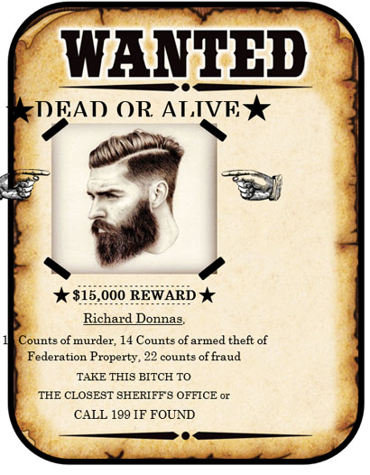 Wanted Poster Template created using MS Word