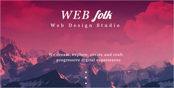 Web Design Studio Website Template