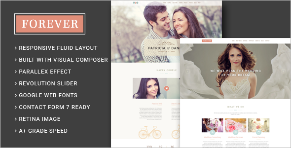 Wedding Agency WordPress Template