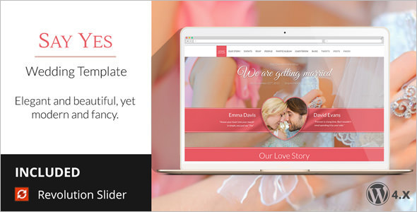 Wedding Brosure WordPress Template