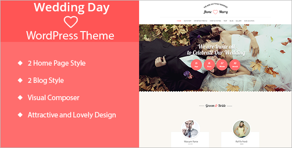 Wedding Day WordPress Template