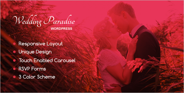 Wedding Gallery WordPress Template