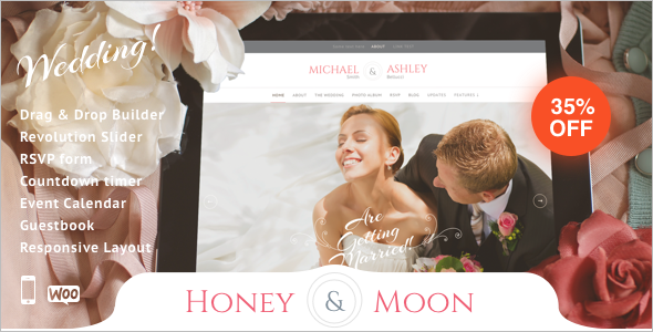 Wedding Guestbook WordPress Template