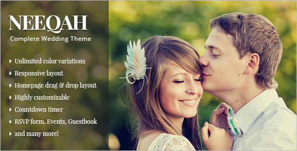 Wedding HomePage WordPress Template