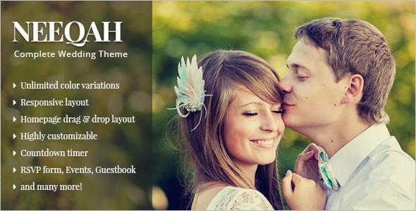 Wedding HomePage WordPress Template