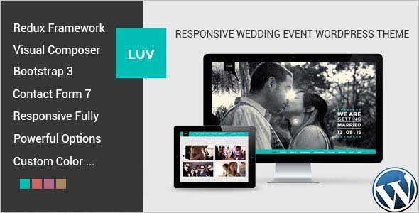 Wedding Invitation WordPress Template