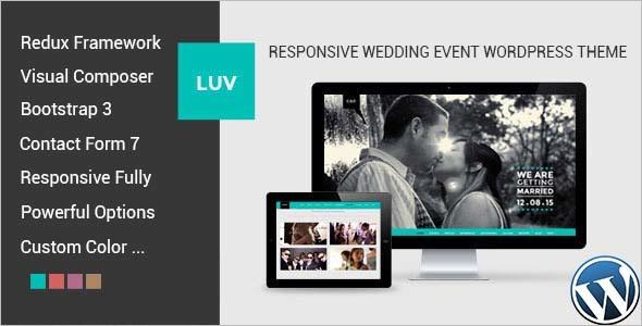 Wedding Invitation WordPress Template