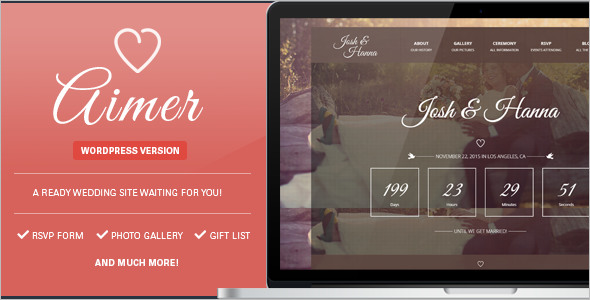 Wedding Photo WordPress Template