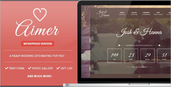 Wedding Photo WordPress Template