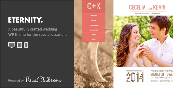 Wedding Scrolling WordPress Template