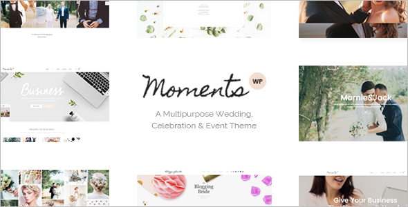 Wedding Single Page WordPress Template