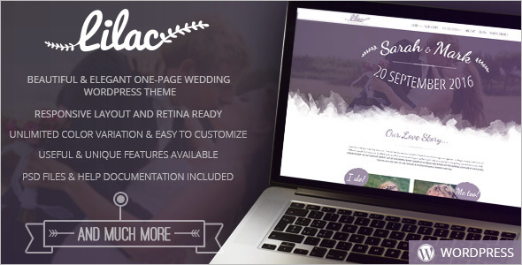 Wedding WordPress Model Template