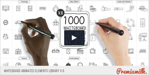 Whiteboard Animated Elements Library Promo Template