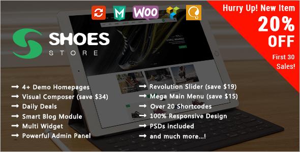 WooCommerce WordPress Template