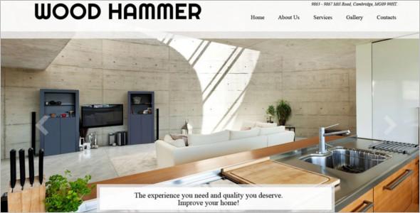 Wood Furnature WordPress Template
