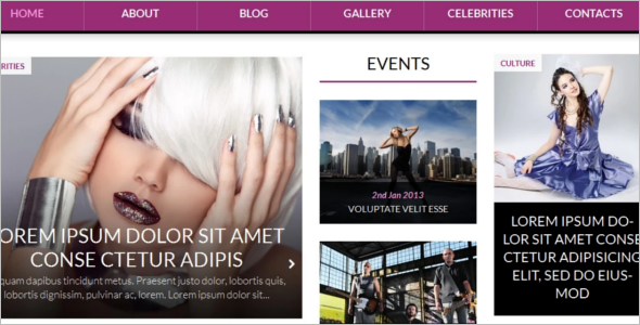 World Fashion WordPress Template