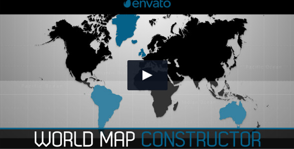 World Map Constructor Infographic Timeline Video