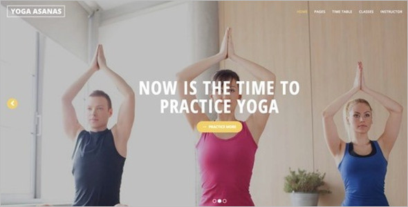 Yoga Pratice Website Template