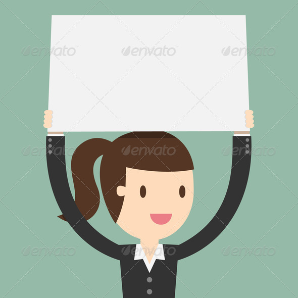 Young Business Woman Banner Background Image