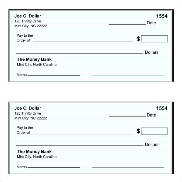 cheque templates – free word, psd, pdf format download | creative, Powerpoint templates