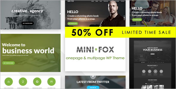 Premium Main Single WordPress Theme