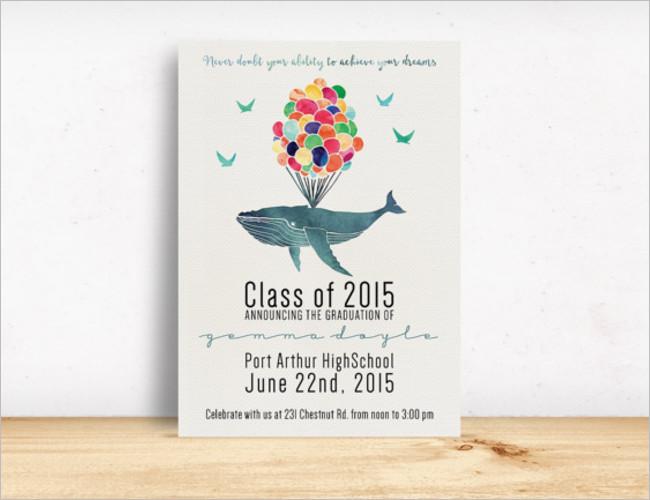 Graduation Invitation Crad Template